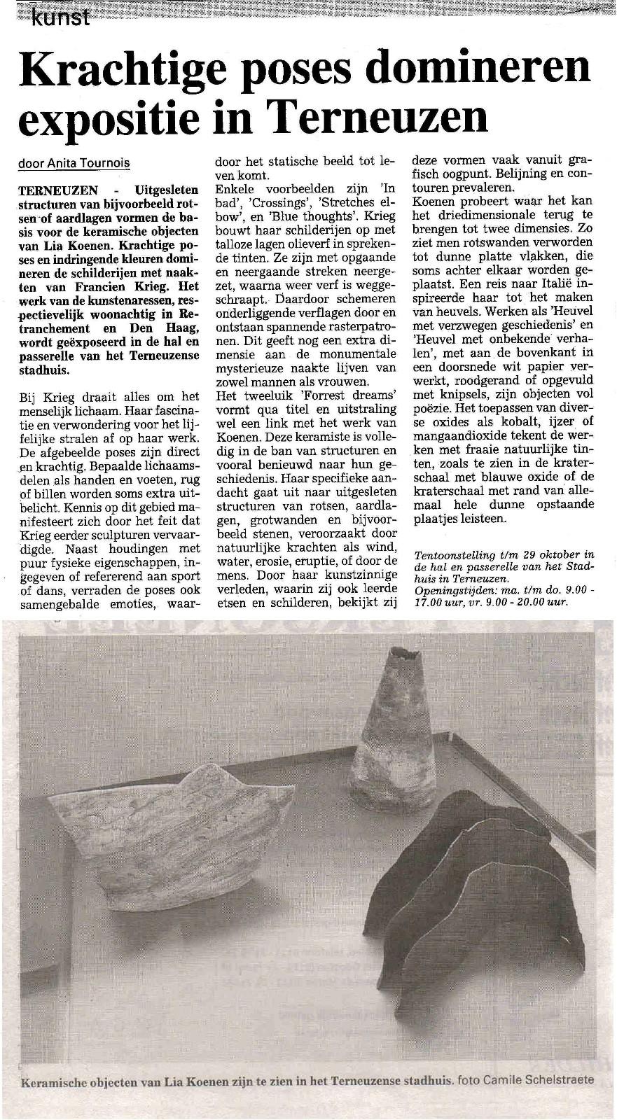 Provinciale Zeeuwse Courant dd. 16 oktober 2004